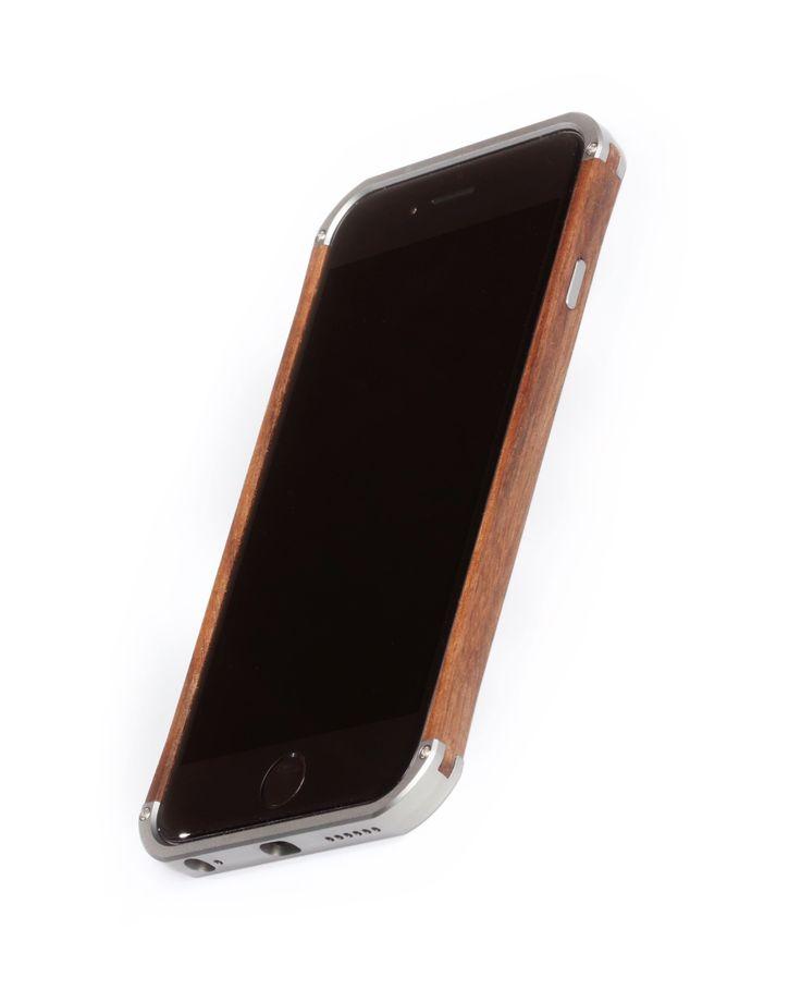 """Hand finished Wood & Aluminum iPhone case """"Frozen Titanium gray & Walnut"""" combination :)"""