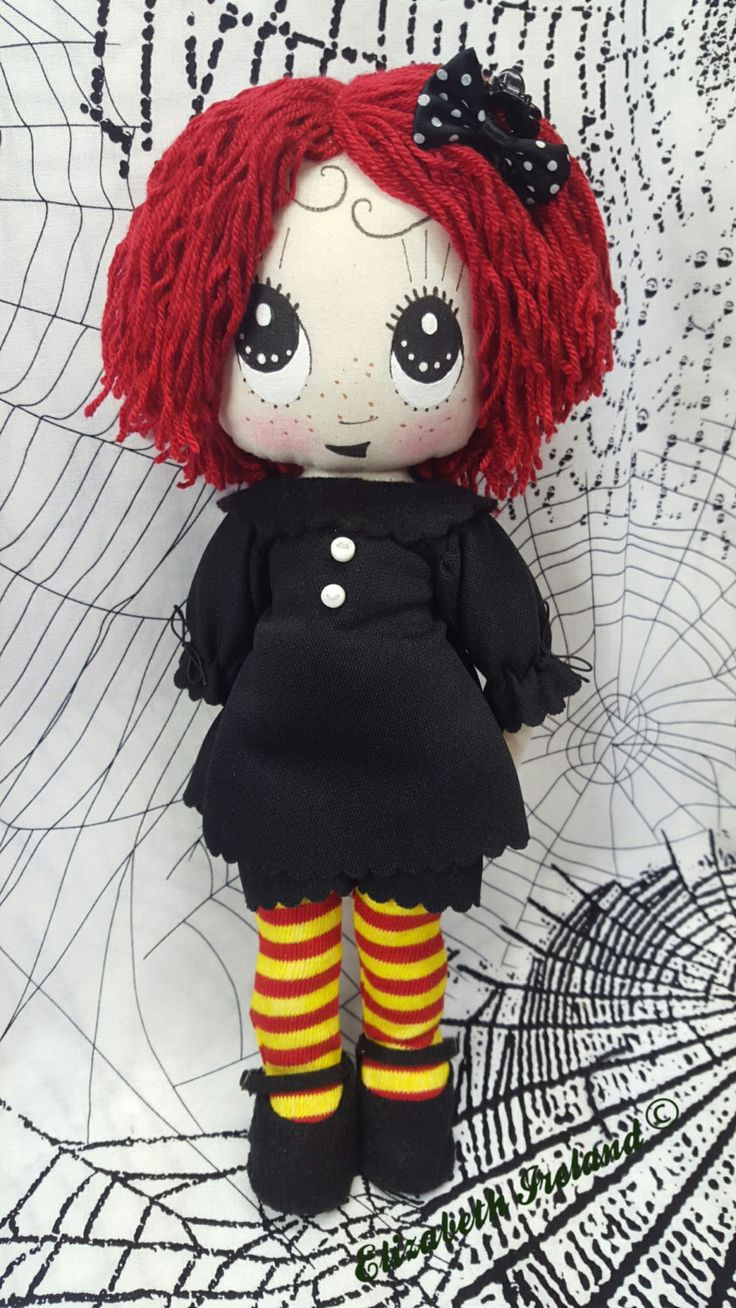 "LTD. 10"" Happy Ruby Gloom cloth doll with removable outfit & shoes by theStudioGiftShop on Etsy https://www.etsy.com/listing/215408779/ltd-10-happy-ruby-gloom-cloth-doll-with"