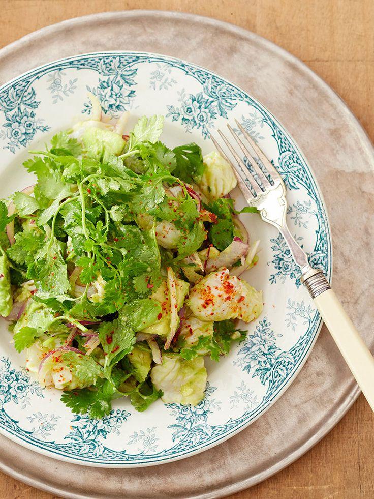 【ELLE a table】パクチーたっぷりのセビーチェ(ペルー風白身魚のレモン〆めサラダ)レシピ|エル・オンライン