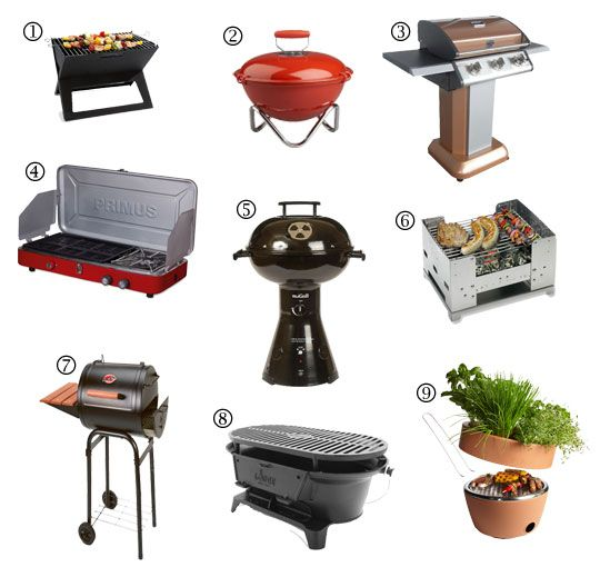 Summer Essentials: 9 Grills for Small Spaces. Are you ready for some summer BBQs and entertaining outside? Check out these 9 small space grills from Apartment Therapy