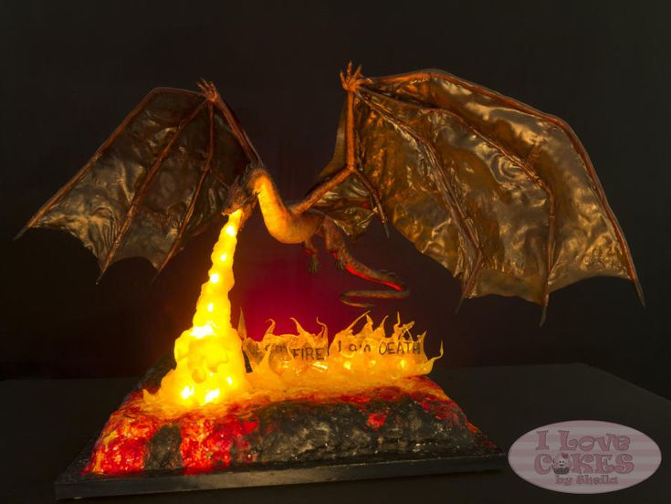 Smaug Breathes Fire - Cakes From Middle Earth - Cake by I Love Cakes by Sheila