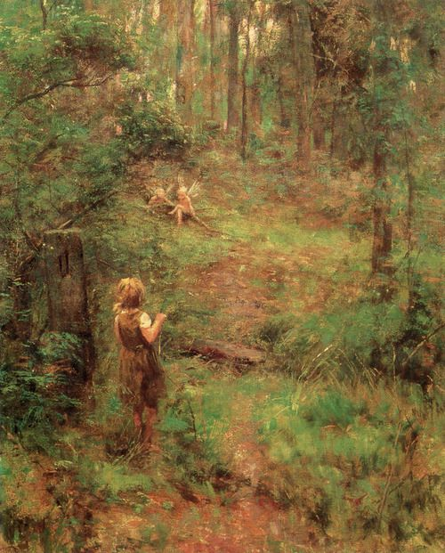 Frederick McCubbin (Australian,1855-1917) - What the Little Girl Saw in the Bush (1904)