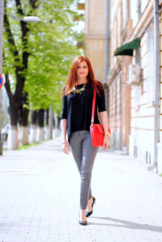 Stiletto and leather look pants | Iasi Fashion Street