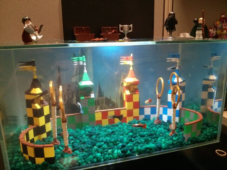 Lego Quidditch Aquarium (cool - until the yuck fills it up. Noooo!)