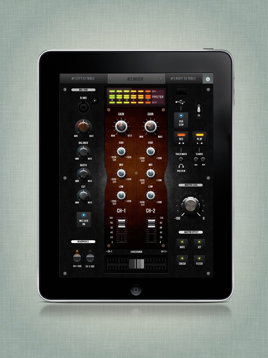 iPad DJ Mixer by BigPitcher , via Behance