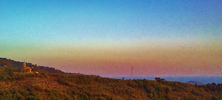Santuario di Montegrazie al tramonto - Settembre 2011