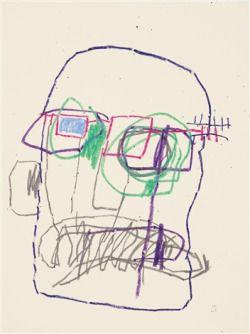 "le-jaune: "" JEAN-MICHEL BASQUIAT UNTITLED, 1981 """