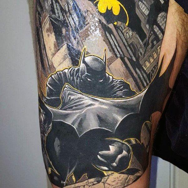 100 Batman Tattoos For Men Superhero Ink Designs Batman Tattoo Tattoos For Guys Batman Tattoo Sleeve