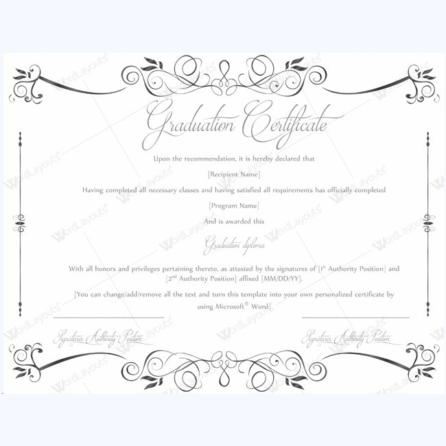 13 best Graduation Certificate Templates images on