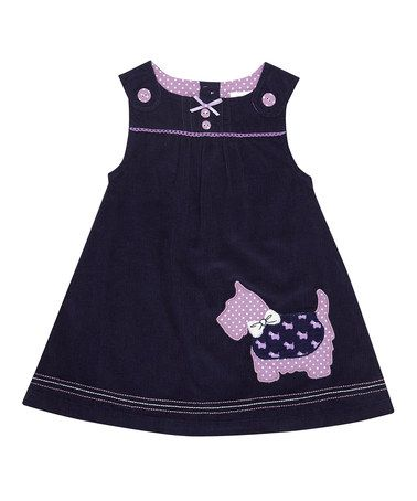 Take a look at this Navy Scottie Dog Jumper - Infant, Toddler & Girls by JoJo Maman Bébé on #zulily today!