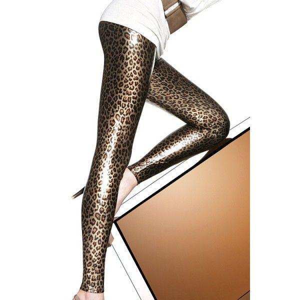 Legging brillant léopard
