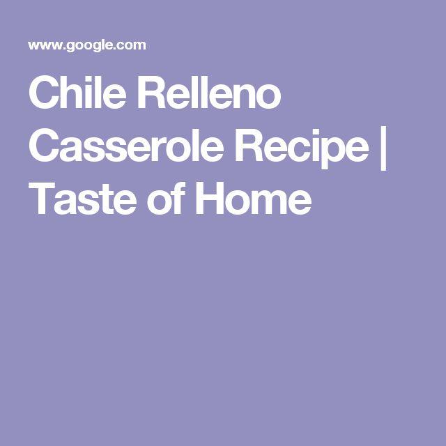Chile Relleno Casserole Recipe | Taste of Home