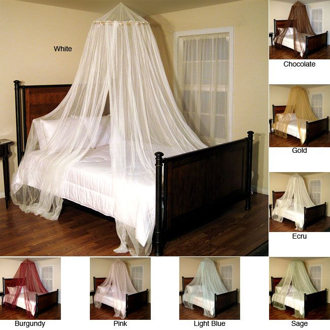 Make your bedroom more romantic and exotic with this netting bed canopy from Oasis. This canopy adds style and elegance to your room. Easy to install and available in a range of different colors, this canopy can also be used outdoors.