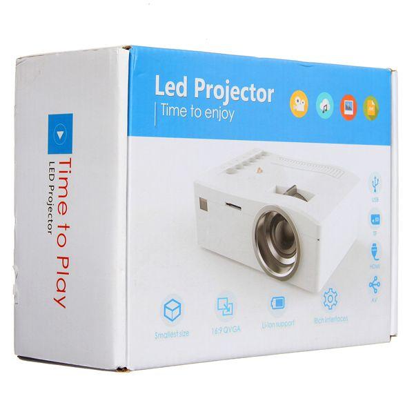Full HD 1080P Home Theater LED Mini Portable Projector Cinema USB TV SD AV Sale - Banggood.com