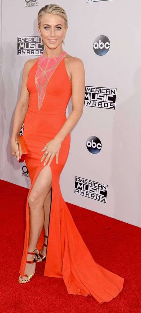 Julianne Hough on the red carpet at the American Music Awards