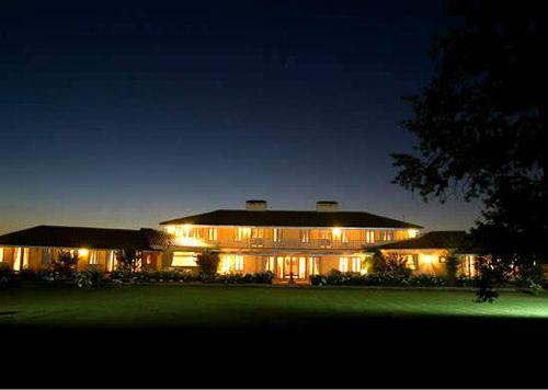 Vina La Playa Hotel and Winery at night,..#Colchagua