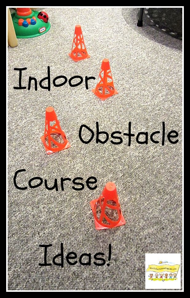 Indoor Obstacle Course Ideas. Fun way to help kids burn some extra energy when they're stuck inside.