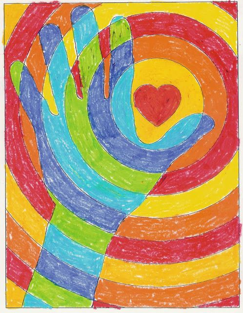 Art Projects for Kids~ Cool Hands Warm Heart