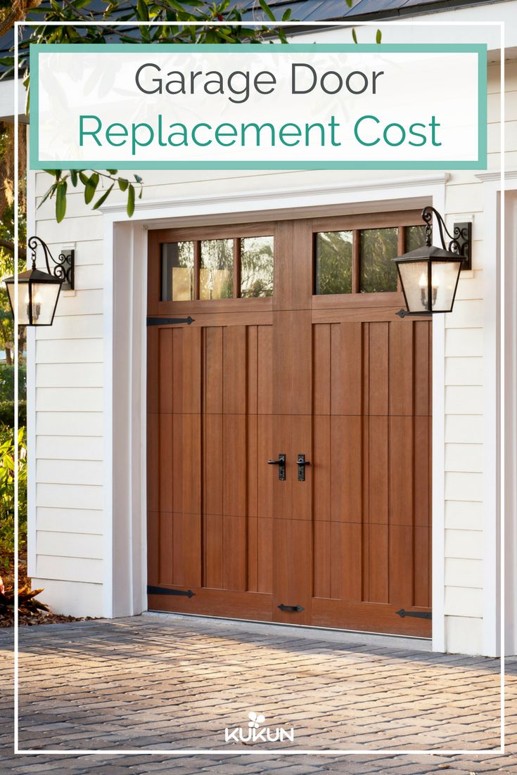 Whether you are looking to replace an old garage door or outfitting a new house, one of your primary concerns will always involve garage door costs. You can spend as much as a thousand dollars to just a few dollars depending on these factor. [Exterior Wood Siding, Wooden Garage Doors, Exterior Lamps, Brick Flooring, Garage Door Cost, ROI, Garage Double Doors, Automatic Garage Door]