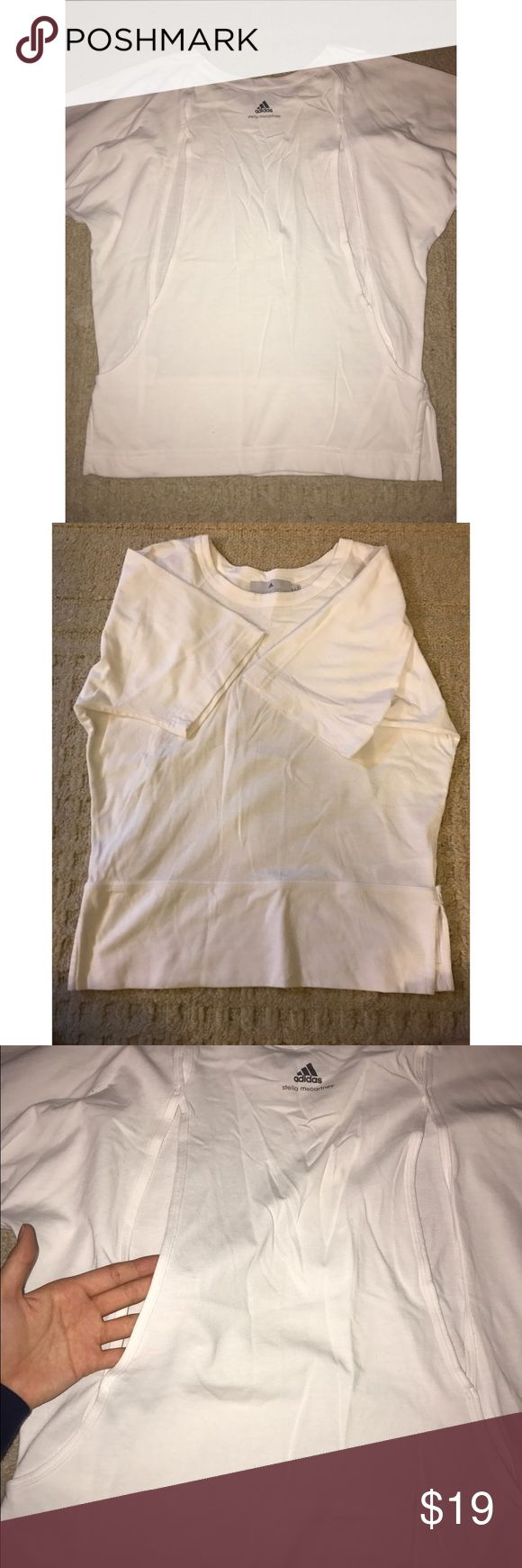 Adidas Stella Maccartney Shirt Unique top with open back! Adidas by Stella McCartney Tops Tees - Short Sleeve