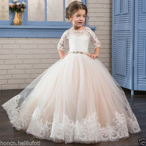 NEW-Communion-Party-Prom-Princess-Pageant-Bridesmaid-Wedding-Flower-Girl-Dress