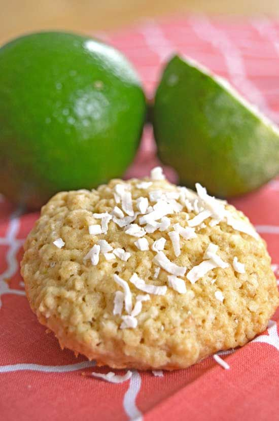 Coconut Lime Oatmeal Cookies--a delicious and easy cookie recipe!