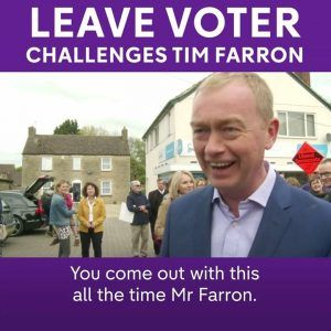I voted leave and Im proud to have voted leave and I knew what I was doing Tim Farron is confront #news #alternativenews