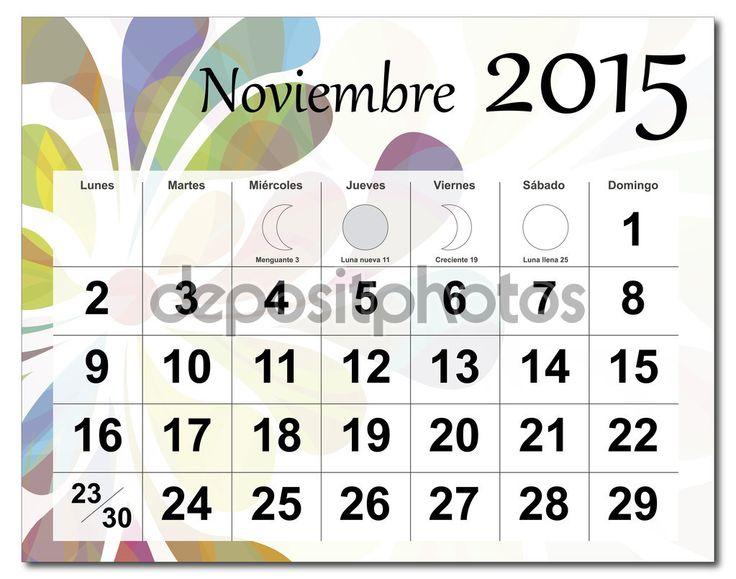 November 2015 Calendar Canada
