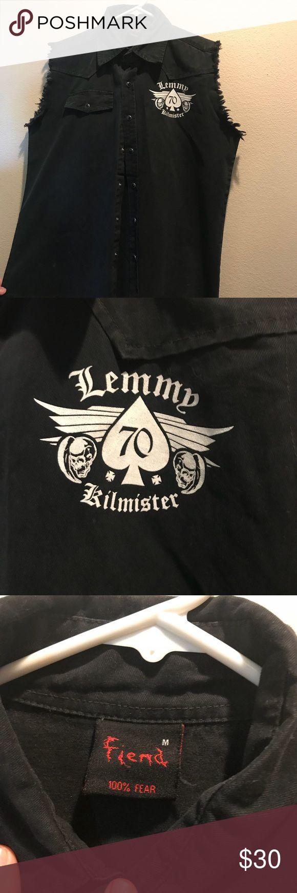 Lemmy Motörhead Sleeveless denim jacket Lemmy Kilmeister Motörhead Sleeveless denim jacket/workshirt in black. New, never been worn. Great collectors item Jackets & Coats