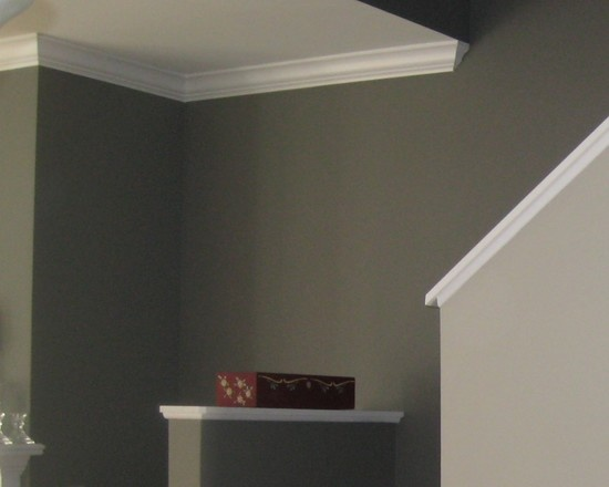 Benjamin Moore Dolphin Af 715 Fireplace And Up The Stairs