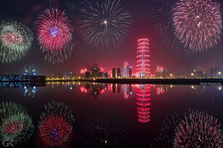 Dubaï - Photo Dubai Fireworks 2015 par Girish Koppisetty on 500px