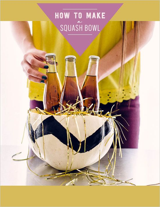 Holiday Drink Container Idea // Squash Bowl