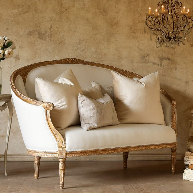 Nice Plush Elegance Stylish Settee Furniture | ... Versailles Canape Antique  Gold Sofa Eloquence Furniture