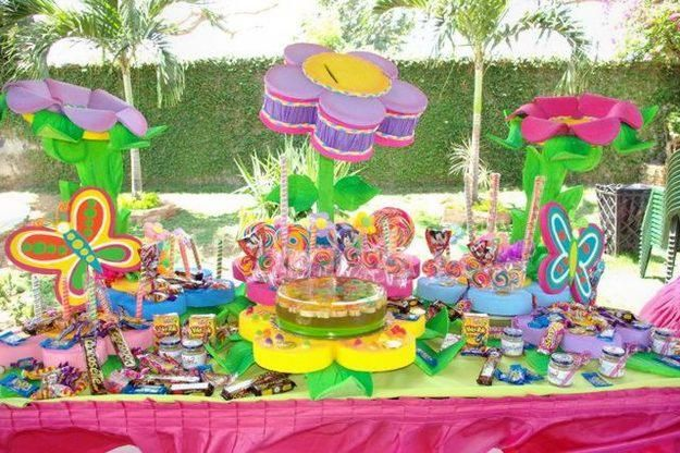 Decoraciones para fiestas mesas infantiles bautizos for Decoracion fiesta bautizo