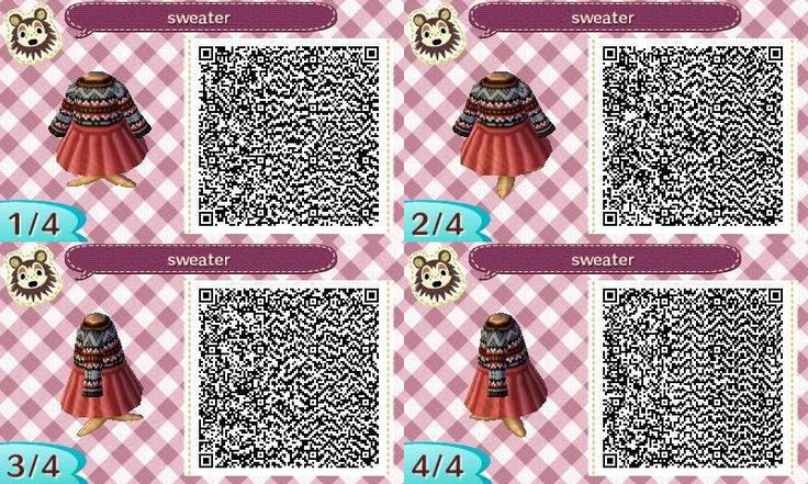 ACNL Winter Sweater Dress QR Code.