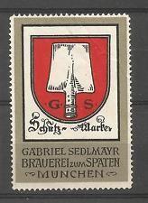 Germany/Munich Gabriel Seldmayer Spaten Brewery advertising stamp/label