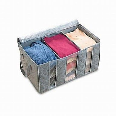 Bamboo Charcoal Clothes Storage Boxes - USD $ 6.99