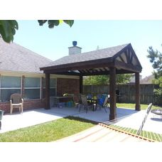 A Beautiful Stained Gable Roof Patio Cover Free