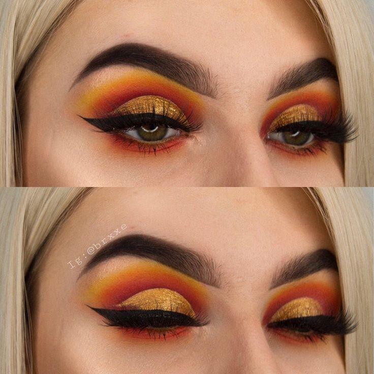 Orange Look Makeupaddiction Halloween Eye Makeup