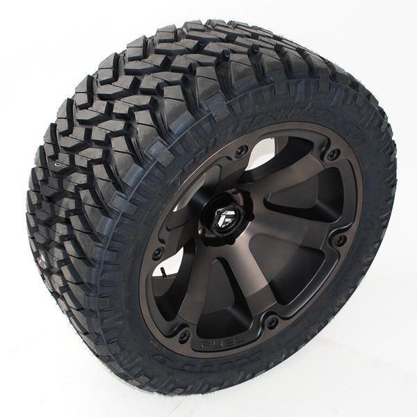 20x12 Fuel Beast D564 Wheels 305 55r20 Nitto Trail Grappler Mt Tires Wheel Wheels And Tires Fuel Wheels