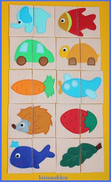 puzzle for child felt puzzle memory puzzle logic by loiseaubleu11, €18.00