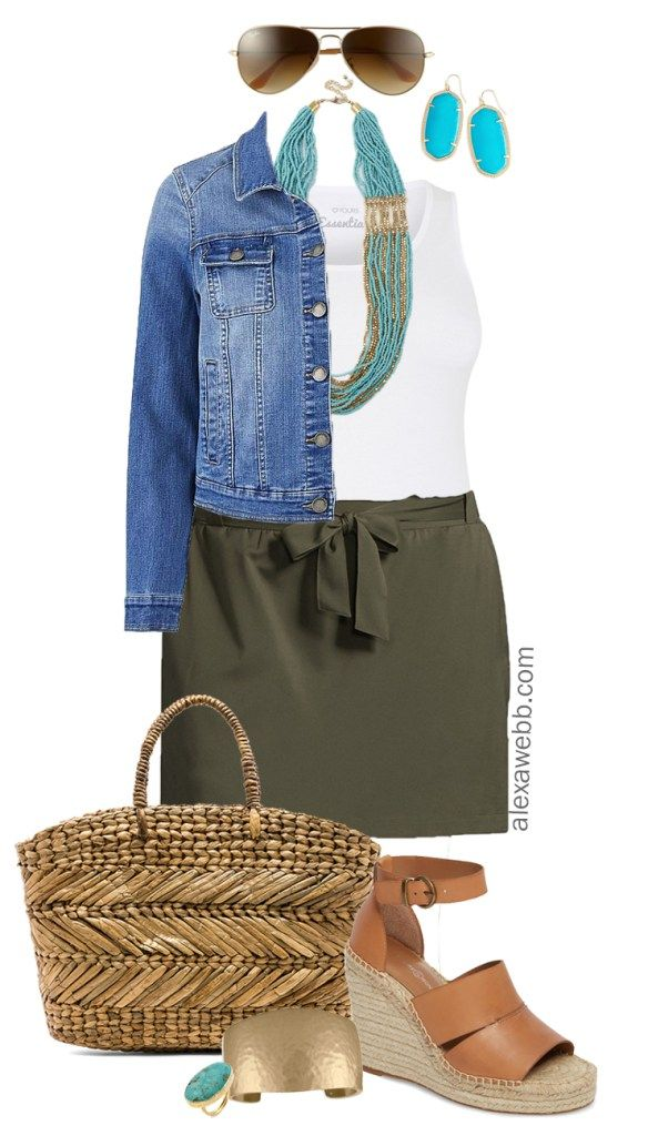 Plus Size Skort Outfit 3