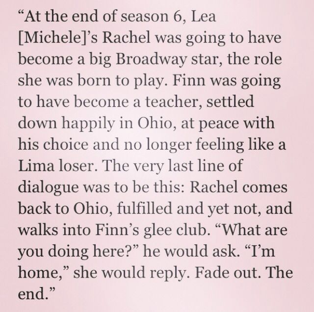 Ryan Murphy on the Glee ending he always had planned- now i am just so sad because that's never happened