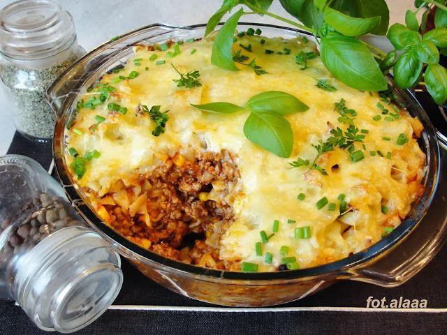 Ala piecze i gotuje: Zapiekanka mięsno makaronowa