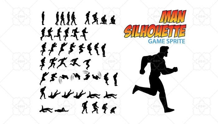 Man Silhouette Game Sprite has just been added to GameDev Market! Check it out: http://ift.tt/20Av60x #gamedev #indiedev