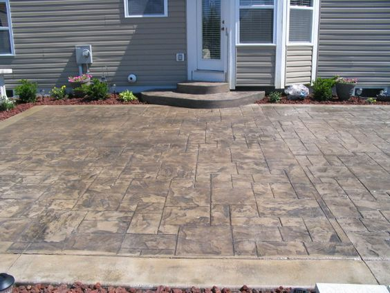 Stamped Concrete, Decorative Concrete And Stamps On Pinterest