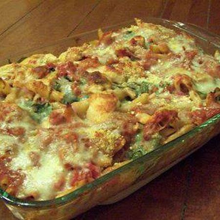 ITALIAN BAKE - the ingredients has to be cooked before baking; especially the chicken, italian sausage and the penne pasta.