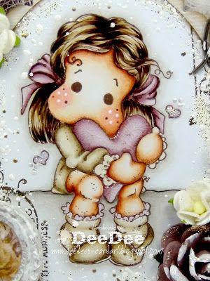 ♥ Cards und More: Tilda with Spring Heart ♥Haut/Skin: E13-E11-E00-E000-E0000-R20 Haare/Hair: E49-E47-E44-E43-E42 Kleidung & Herz/Clothes & Heart: cream E43-E42-E41 purple RV95-RV93-RV91 Hintergrund/Background: W5-W3-W2-W1-W0-W00