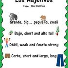 Spanish adjectives with their English equivalents sung to the tune of 'This Old Man'.  Super catchy and educational too!  Your students will find themselves studying without even realizing it!