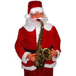 Papai Noel Animado Dana Toca Sax 1,80m Bi-Volt 1498 Vermelho